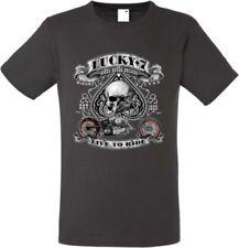 Unifarbene Herren-T-Shirts mit Harley Davidson in Plusgröße