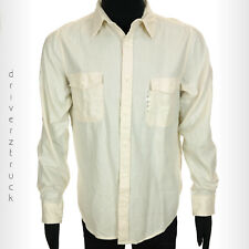 ARIZONA JEANS CO. Young Men's SMALL Casual IVORY SHIRT Button Front CREAM SHIRT