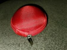 Red Carrying Hard Case Storage Bag Hold for In Ear Headphone Earphone Earbuds