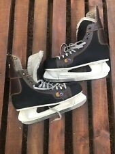 Vintage Cooper A60 Ice Hockey Skates Brown Leather Black Size 11 Fast Shipping