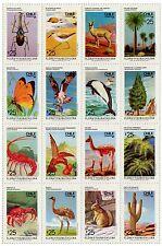 Chile 1987 #1249-1264 Flora y Fauna MNH
