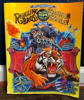 Ringling Brothers and Barnum Bailey Circus 1998 Program Baby Elephants Tall Khan