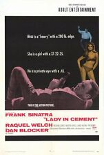 LADY IN CEMENT Movie POSTER 27x40 Frank Sinatra Raquel Welch Richard Conte