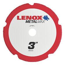 "Lenox 3"" x 3/8"" Hole Metal Max Diamond Edge Cut Off Wheel,1,000+cuts #1972918"
