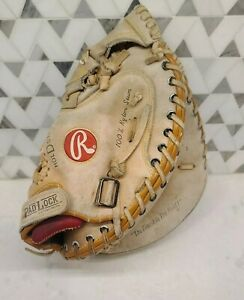 Rawlings Mike Piazza Auto RCM 7 Catcher Mitt Baseball Glove Fast Back VG. RHT