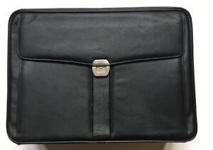 Maxmore By Travelwell Black Leather Briefcase Style # 3935