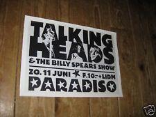 Talking Heads Repro Tour POSTER Paradiso