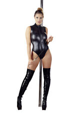 Sexy Body in Wetlook Nero con cerniera apribile - Lingerie erotica da Lap Dance