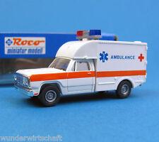 Roco h0 1352 Dodge Ambulance Croix rouge rtw KTW ambulance OVP HO 1:87