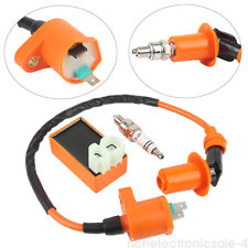 Racing AC CDI Box 6 Pin Ignition Coil Spark Plug for GY6 50-150cc Moped Scooter#