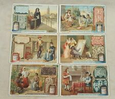 6 Vintage Antique Victorian Trade Cards Veritable Extrait De Viande Liebig Lace