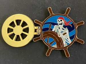 Pirates of the Caribbean - Skeleton at the Helm Hinged Disney Pin 82478