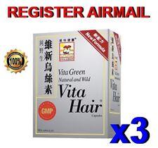 Vita Green Vita Hair growth anti-hair loss fall graying Herbal Pills Capsules x3