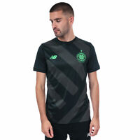 Mens New Balance Celtic Training Pre Match Shirt In Black