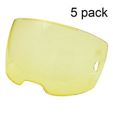 5 each - ESAB 0700000803 Amber Front Cover Lens For Sentinel A50 Helmet