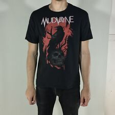 L Mudvayne Black T Shirt Rare Tour Merchandise Trashed Distressed