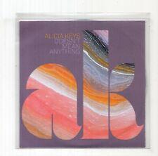 (JC603) Alicia Keys, Doesn't Mean Anything - 2009 DJ CD