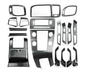 Carbon fiber style Car interior kit Cover Trim For VOLVO S60 2014-2018