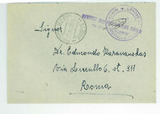 1948 Rieti Italy to Rome Displaced Person Camp DP Cover Lithuanian Stampless