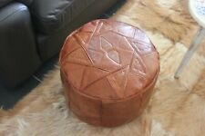 Genuine Leather Morrocan Footstool