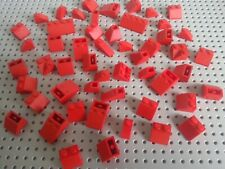 LEGO BRICKS - +50 PIECES VARIOUS ASSORTED ROOF SLOPES - RED