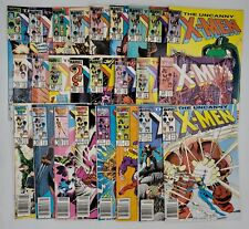 25) 1985-1987 Marvel Comic Book Lot Uncanny X-Men #189-#217 (Nonconsec) Avg VF