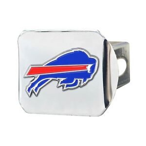 Fanmats NFL Buffalo Bills 3D Color on Chrome Metal Hitch Cover Delivery 2-4 Days