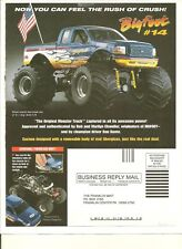NO TRUCK) Franklin Brochure/paperwork Only Ford Bigfoot 14# Red White Blue 1/24