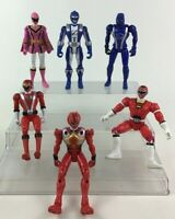 """Power Rangers Action Figures 6"""" Toys 6pc Lot Bandai Blue Red Pink Rangers"""