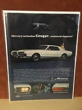"Vintage 1967 ""Untamed Elegance"" Mercury Cougar  Print Ad"