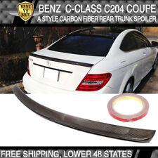 12 13 14 15 Benz C-Class C204 2Dr AMG Style Trunk Spoiler - Carbon Fiber CF