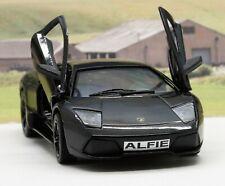 PERSONALISED PLATE Black Lamborghini Toy Car Boys Dad Model Birthday Present