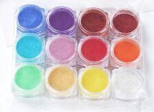 12 x Effektpigmente Metallicpigmente Einfärben Epoxidharz Set 2C Probenset