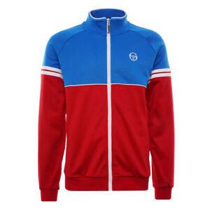 Sergio Tacchini Men's Track Top Orion Zip Up Track Jacket in Red / Blue / White