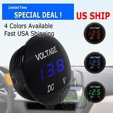 Dc 12v 24v Led Panel Digital Voltage Volt Meter Display Voltmeter Motorcycle Car