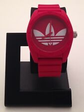ADIDAS MEN'S SANTIAGO RED DIAL WATCH WITH RED SILICON BAND ADH6168