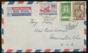 Mayfairstamps Malaysia 1955 Perak Tiger Dredge Cover wwp_64459