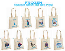 Personalised Frozen Tote Bag Large PE Dance Gym Any Name School Nursery Swimming