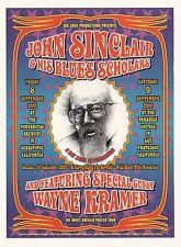 Original Y2K John Sinclair Wayne Kramer Mc5 Sf Concert Poster Grimshaw Loren Jc1