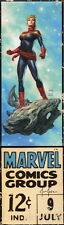 Joe Jusko SIGNED ART PRINT Marvel Comics Corner Box Variant ~ Captain Marvel