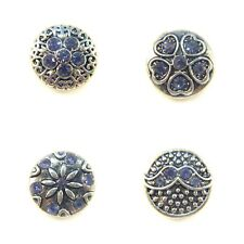 Noosa Style Chunks Mini Ginger Snap On Jewellery Button Charms Mauve 12mm