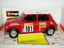 Burago Mini Cooper Monte Carlo 1960 Red Diecast Replica Car 1/18 NIB
