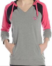 J876 - Metal Mulisha Alert Hoodie * NWT Womens Medium Grey / Pink / Blk - #25675