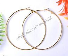 10Pcs Silver Gold Plated Metal Large Round Hoops Earrings Finding 40MM 50MM 60MM