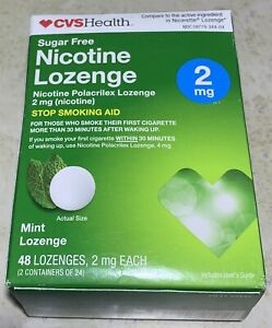 CVS Health • Nicotine Lozenges 2 mg Sugar Free. 48 LOZENGES • MINT • EXP 02/2021