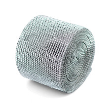 "4.75""x1 Yard Diamond Mesh Wrap Roll Sparkle Rhinestone Ribbon"