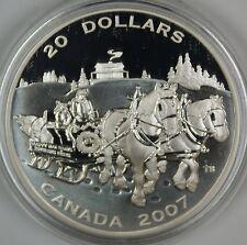 2007 Canada $20 Holiday Sleigh Ride Proof 1oz .9999 Silver Coin- w/ Box & COA