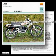 #037.07 OSSA 350 SUPER PIONEER 1976 Fiche Moto Motorcycle Card