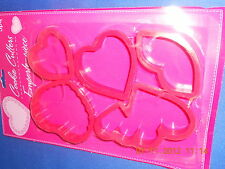 New Valentines Day Assorted Heart & Kissing Lips Cookie Cutters share the Love