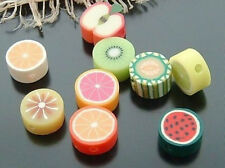 Free Ship 30pcs Mixed Polymer Fimo Clay Fruit loose Spacer Beads 11x10mm